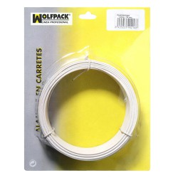 Alambre Plastificado 1,2 mm. Blanco (Rollo 50 metros)